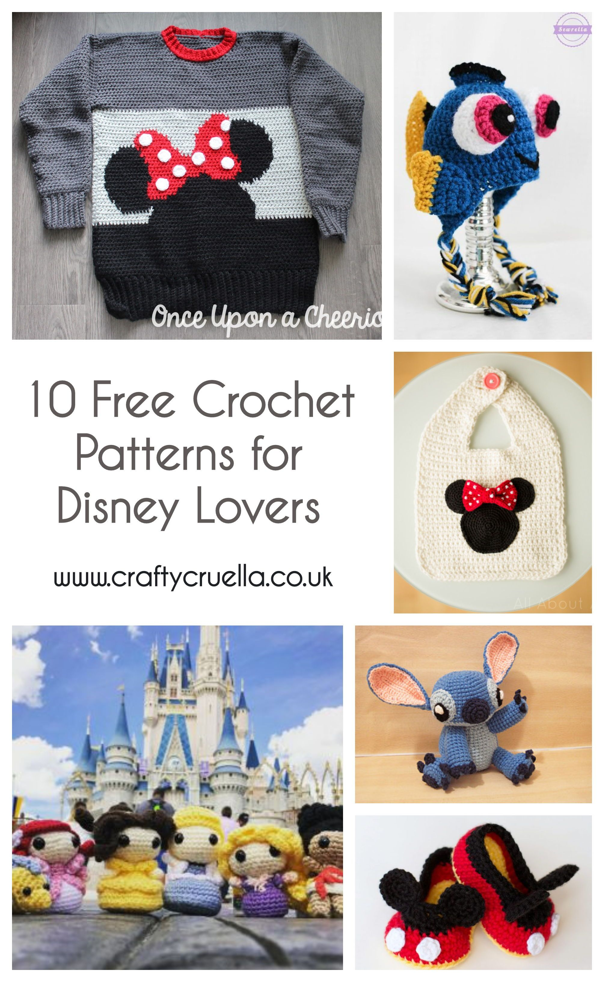 10 Free Crochet Patterns for Disney Lovers | Pinterest | Tricotar ...