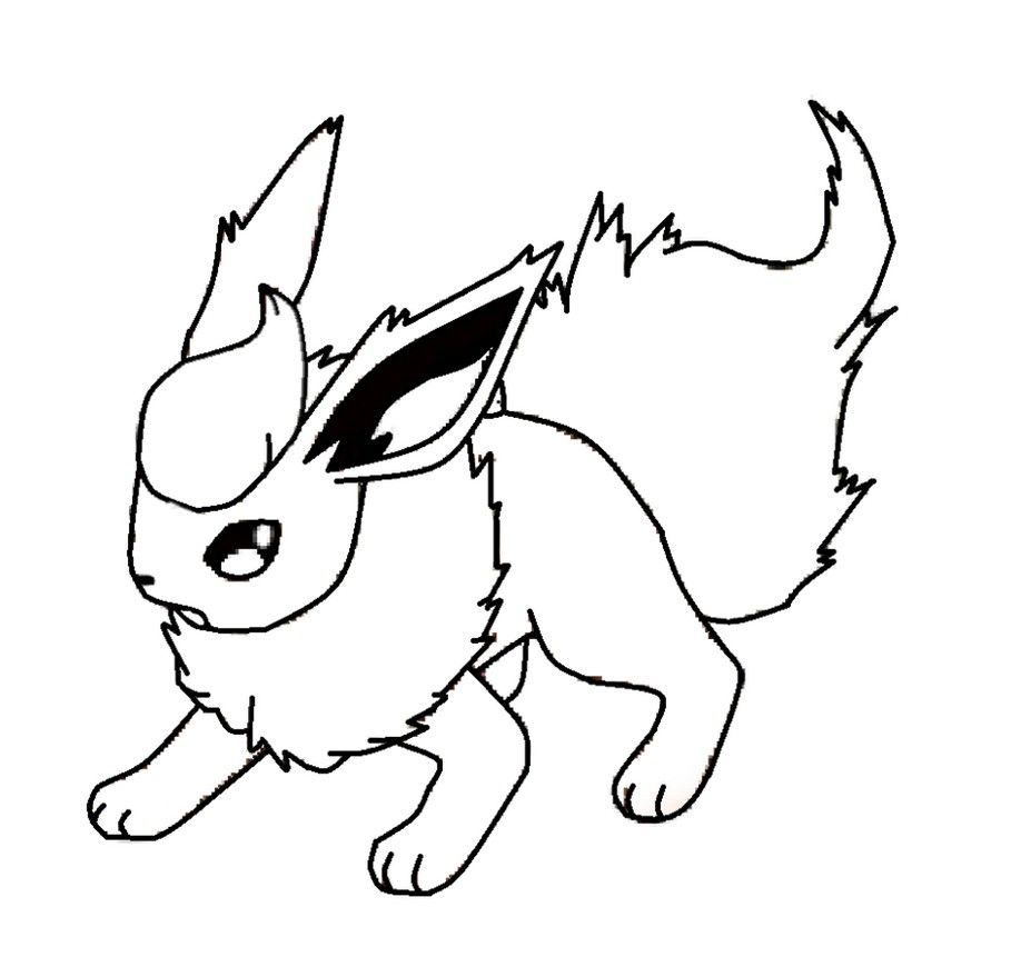 Pokemon Flareon Coloring Book Pages Pokemon Flareon Coloring