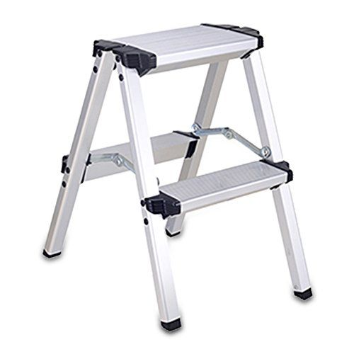 Remarkable Lxla Aluminum Alloy Scissors Ladder With Handrail Folding 2 Squirreltailoven Fun Painted Chair Ideas Images Squirreltailovenorg