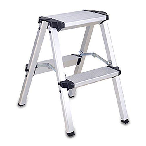 Excellent Lxla Aluminum Alloy Scissors Ladder With Handrail Folding 2 Machost Co Dining Chair Design Ideas Machostcouk