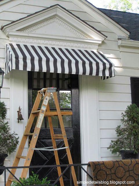 Simple Details Diy Awning Tutorial Diy Awning Diy Window Outdoor Awnings