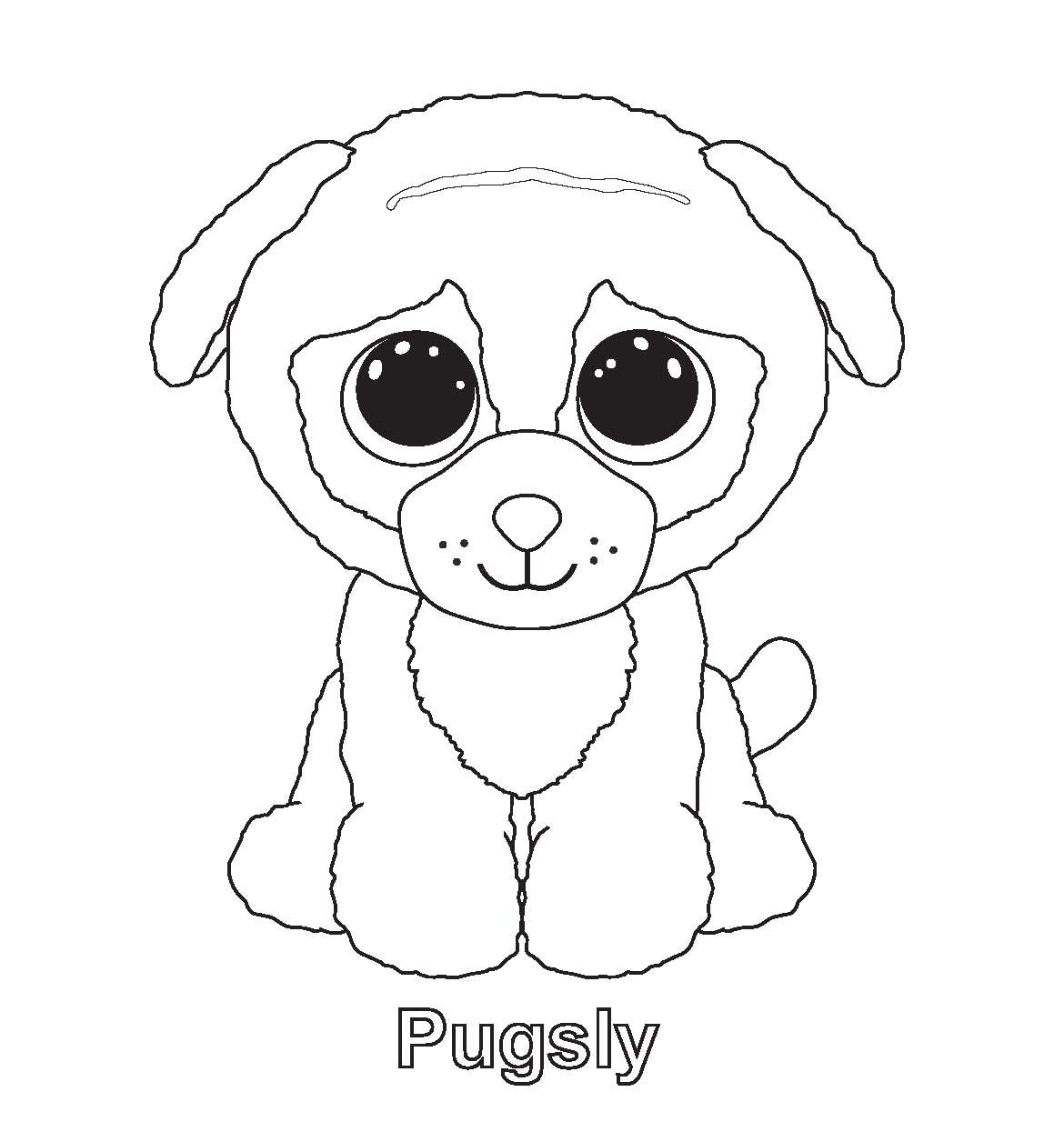 Ty Beanie Boo Coloring Pages Download And Print For Free Beanie