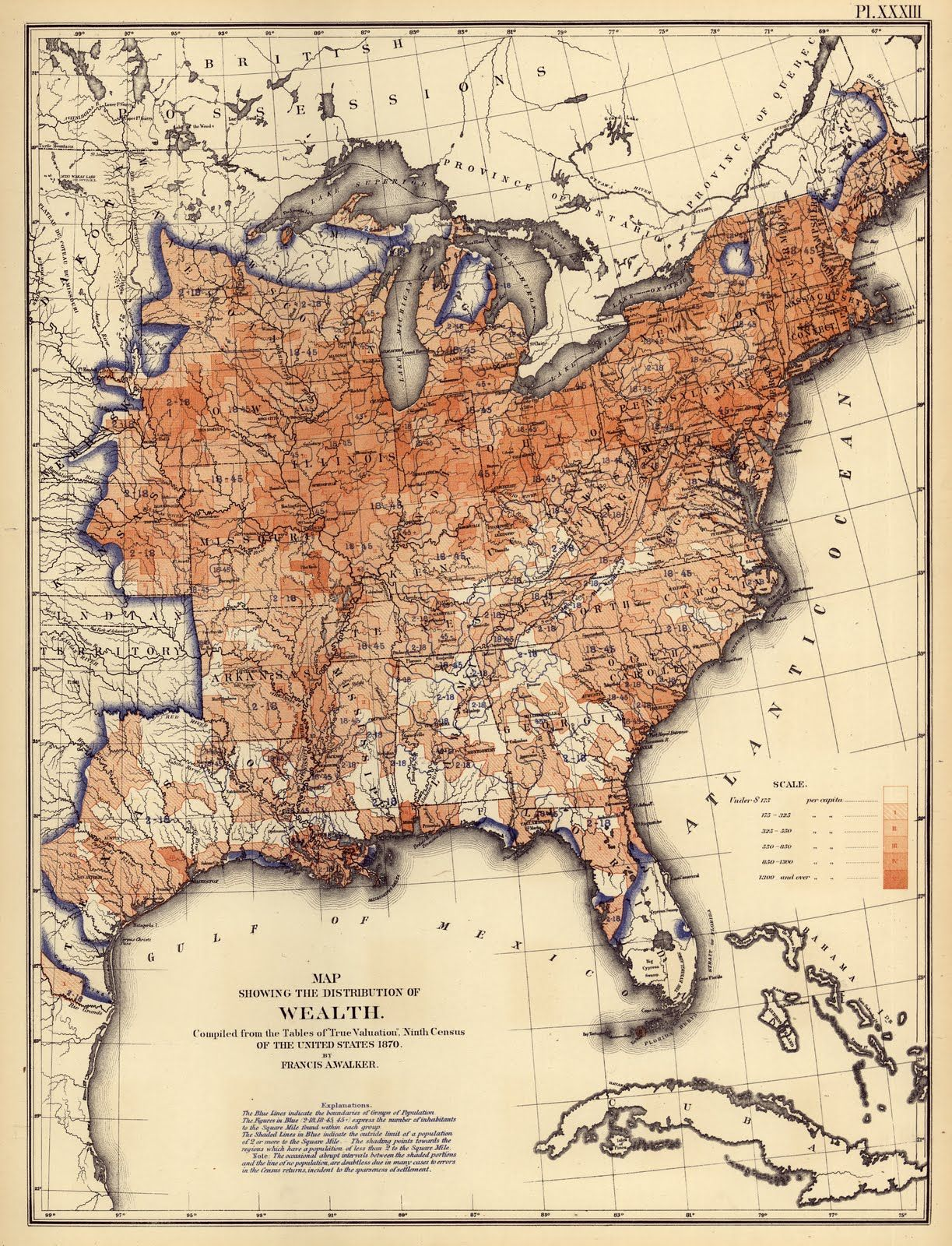 US Distribution of Wealth 1870 pretty well explains things as far