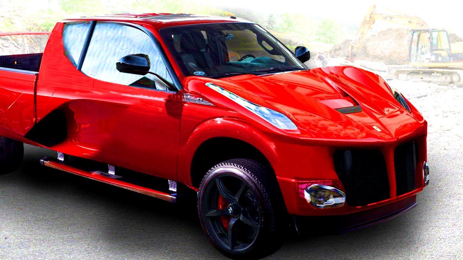 Ferrari Concept Truck Someones Horrible Vision Custom Cars For Sale Ferrari Custom Cars