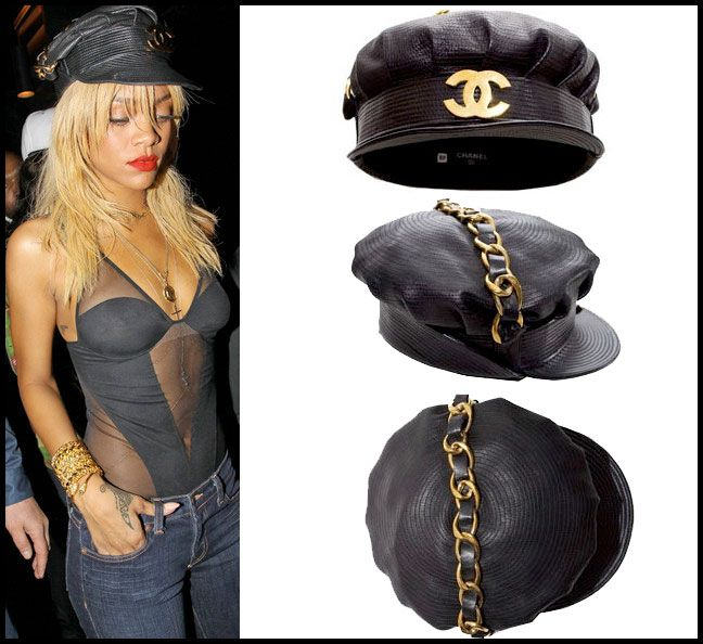 Rihanna in vintage chanel hat  f71fceec211