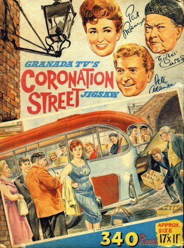 Coronation Street. Still going strong today.  484909_609434349070386_1288678547_n.jpg (371×500)