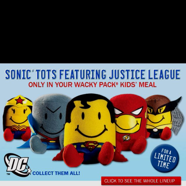 Justice League Tots From Sonic May Have To Eat At Sonic Justice League Tot Sonic