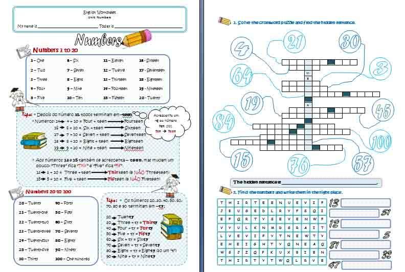 Number Names Worksheets » Learning English Worksheet - Free ...