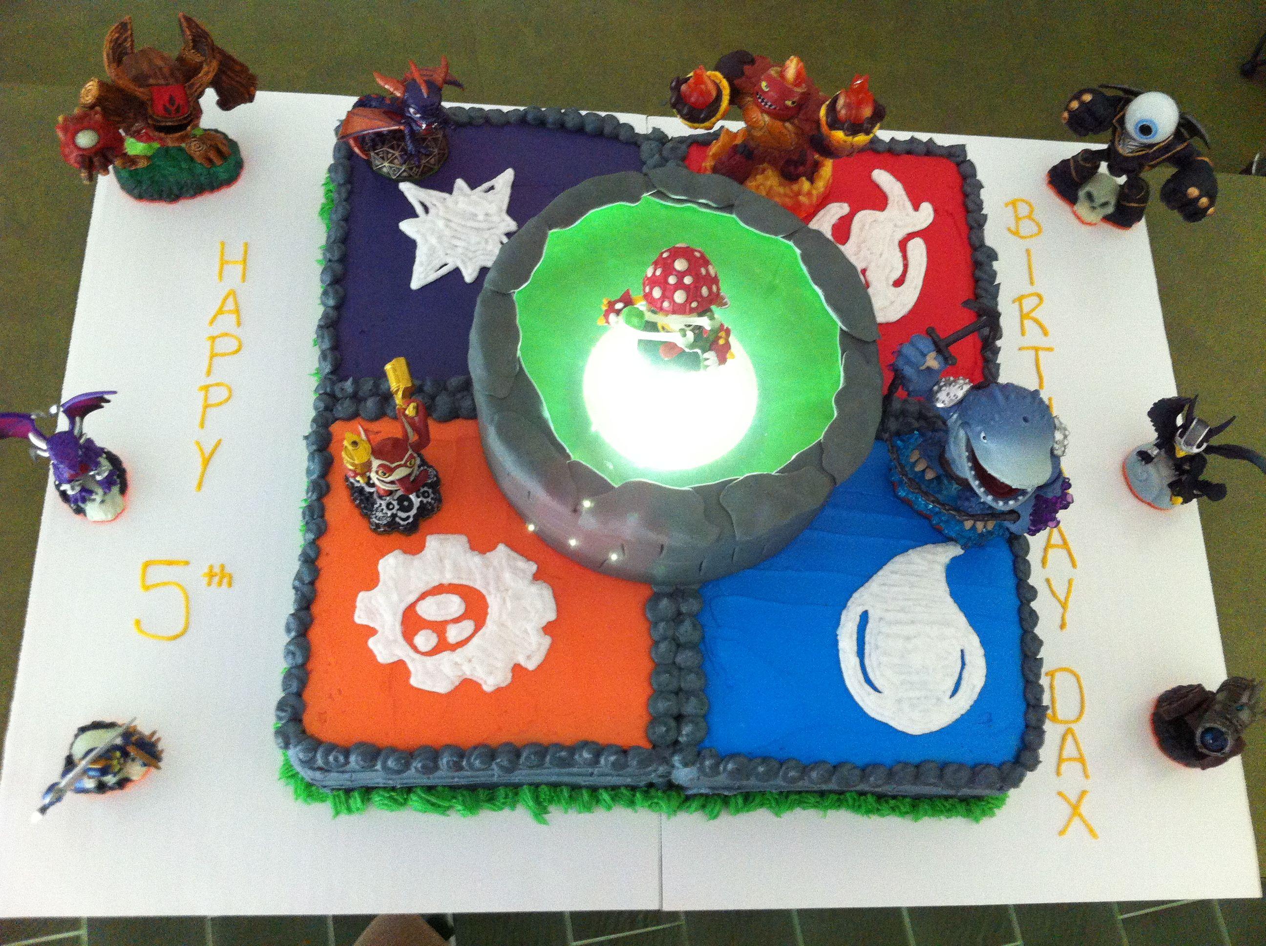 Skylander birthday cake preston 5th bday Pinterest Birthday