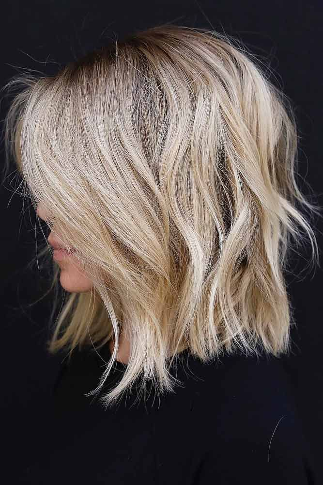 Photo of Layered Wheat Blonde Hairstyle #shaghairstyles #shaghaircuts #mediumlength #hair… » Trends Ideen 2019