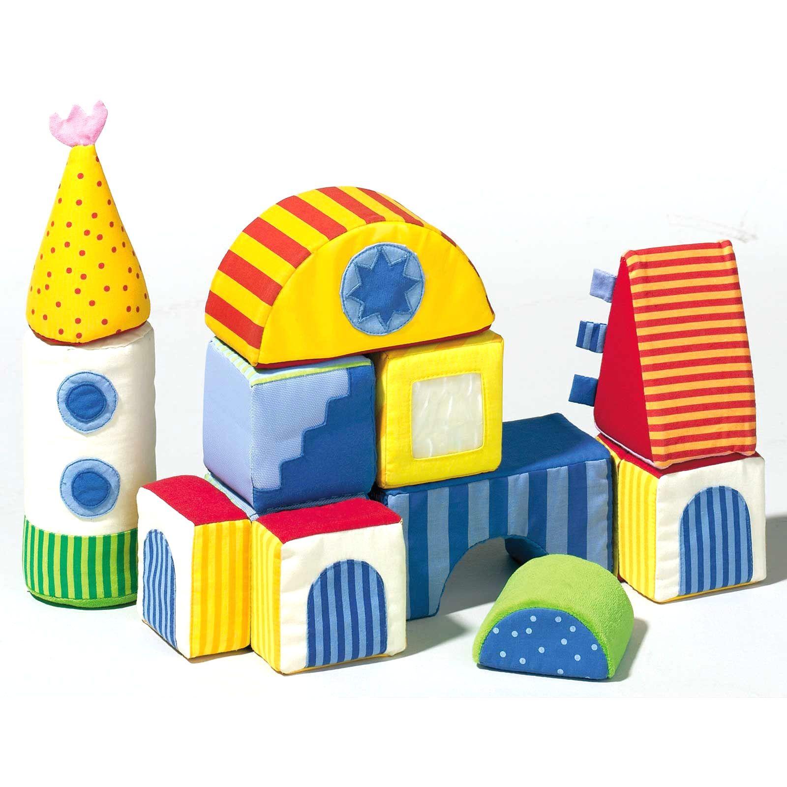 Cubes magiques en tissu : Haba - Bloc de construction - Berceau Magique