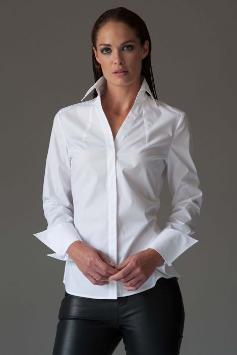 Plain White Shirt for Women | Classic Womens Business Shirt ...