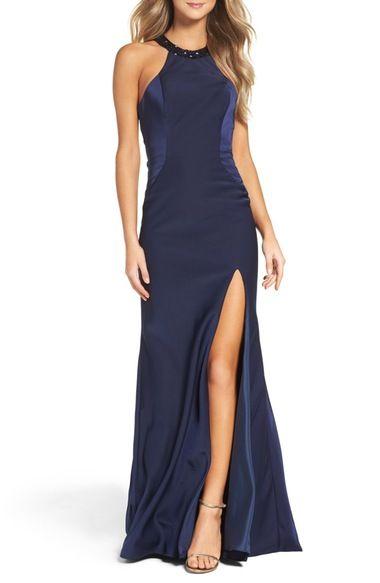 La Femme Embellished Jersey Gown available at #Nordstrom