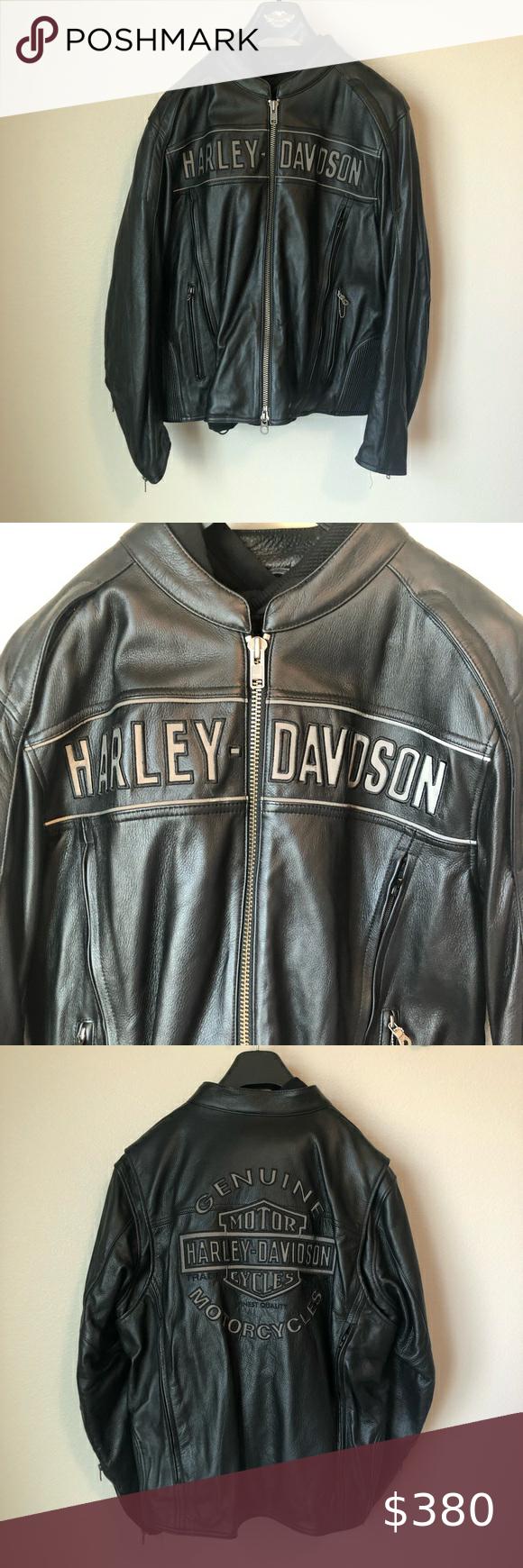 Harley Davidson Leather 3 In 1 Motorcycle Jacket Leather Jacket Harley Davidson Jacket Jackets [ 1740 x 580 Pixel ]