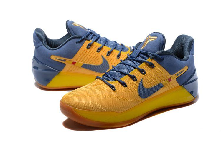 "e6fb1bd0e109 Nike Kobe A.D. ""Bruce Lee"" Yellow Navy Blue Shoes For Sale"