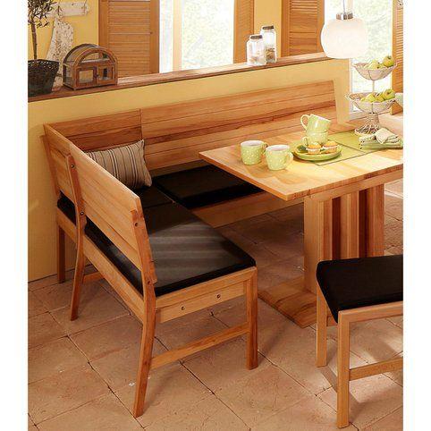banc d'angle avec coffre de rangement en bois massif et revêtement