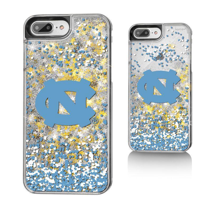 8790e5ebbe6b0f North Carolina Tar Heels Gold Glitter iPhone 8 Plus 7 Plus 6 Plus ...