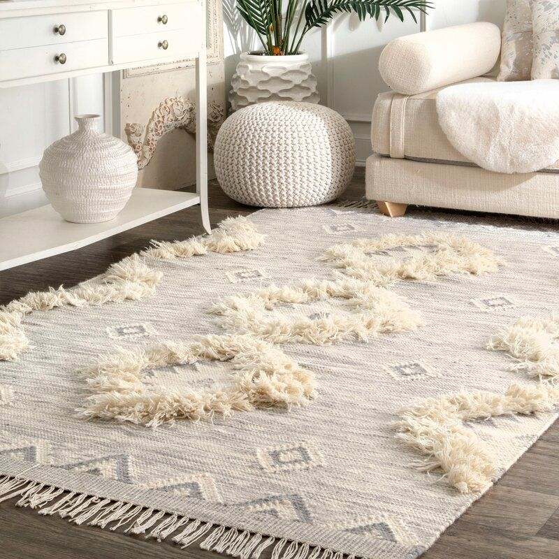 Monroe Southwestern Hand Knotted Wool Light Gray Area Rug Reviews Joss Main In 2020 Light Grey Rug Grey Area Rug Wool Area Rugs