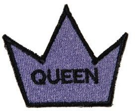 Logophile Embroidered Queen Crown Patch Products Queen Crown