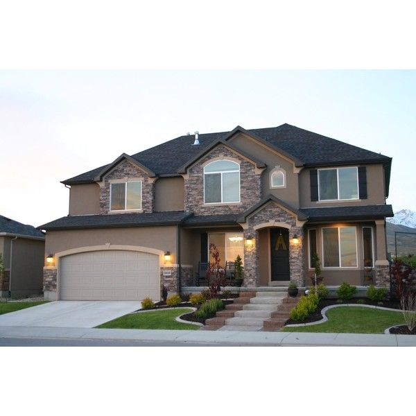 Beautiful Homes, Beautiful Neighborhood! McArthur Homes Landscaping... ❤  Liked On Polyvore