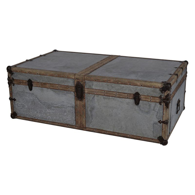 A and B Home Alcott Antique Decorative Trunk 41127 Products