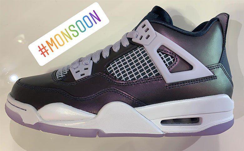 size 40 b37bb 22262 Air Jordan 4 Monsoon Blue Releases On April 6th For Girls