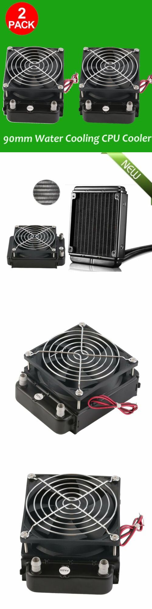 NEW 90mm Water Cooling CPU Cooler Row Heat Exchanger Radiator With Fan for PC MX