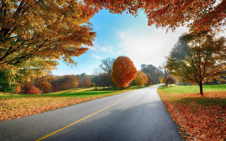 Country Road Autumn Desktop Wallpapers Autumn Landscape Landscape Wallpaper Scenery Wallpaper