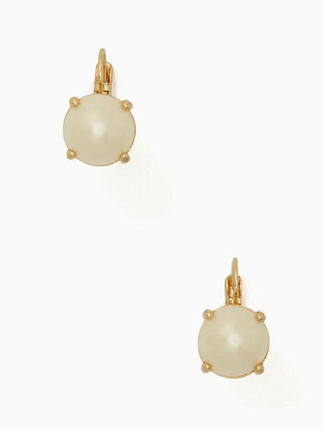 Pearl Round Leverback Earrings Cream Large Kate Spade Rounding