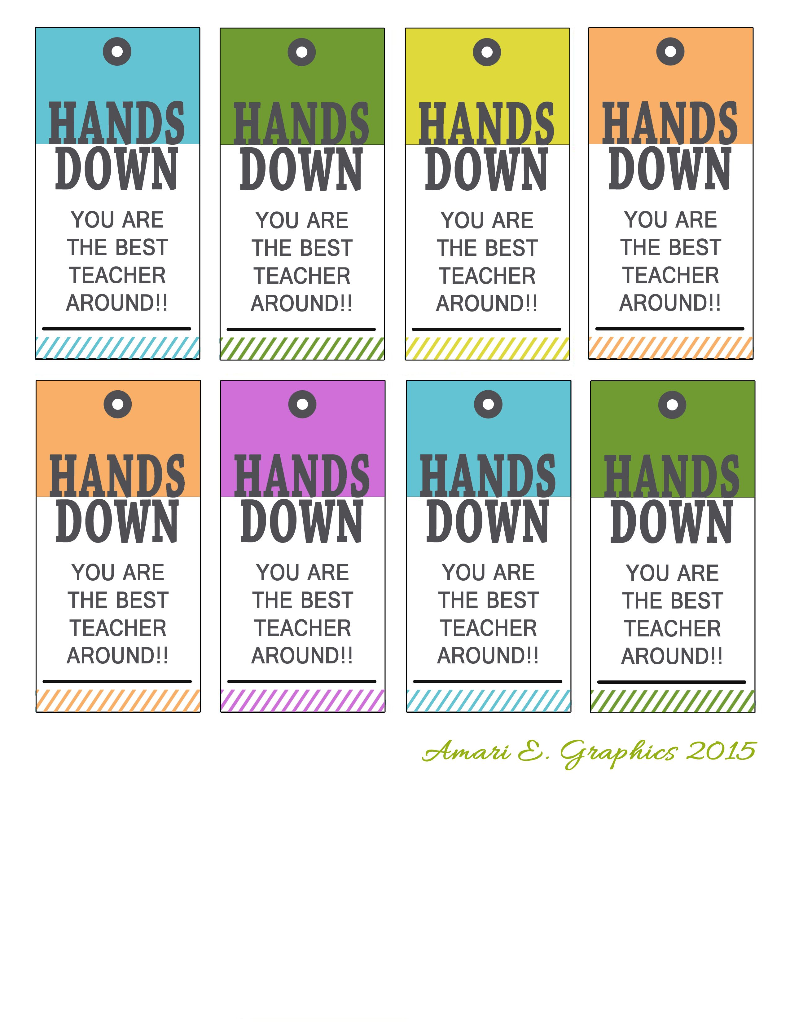 free printable for Hand lotion, sanitizer, soap tag for teacher gifts