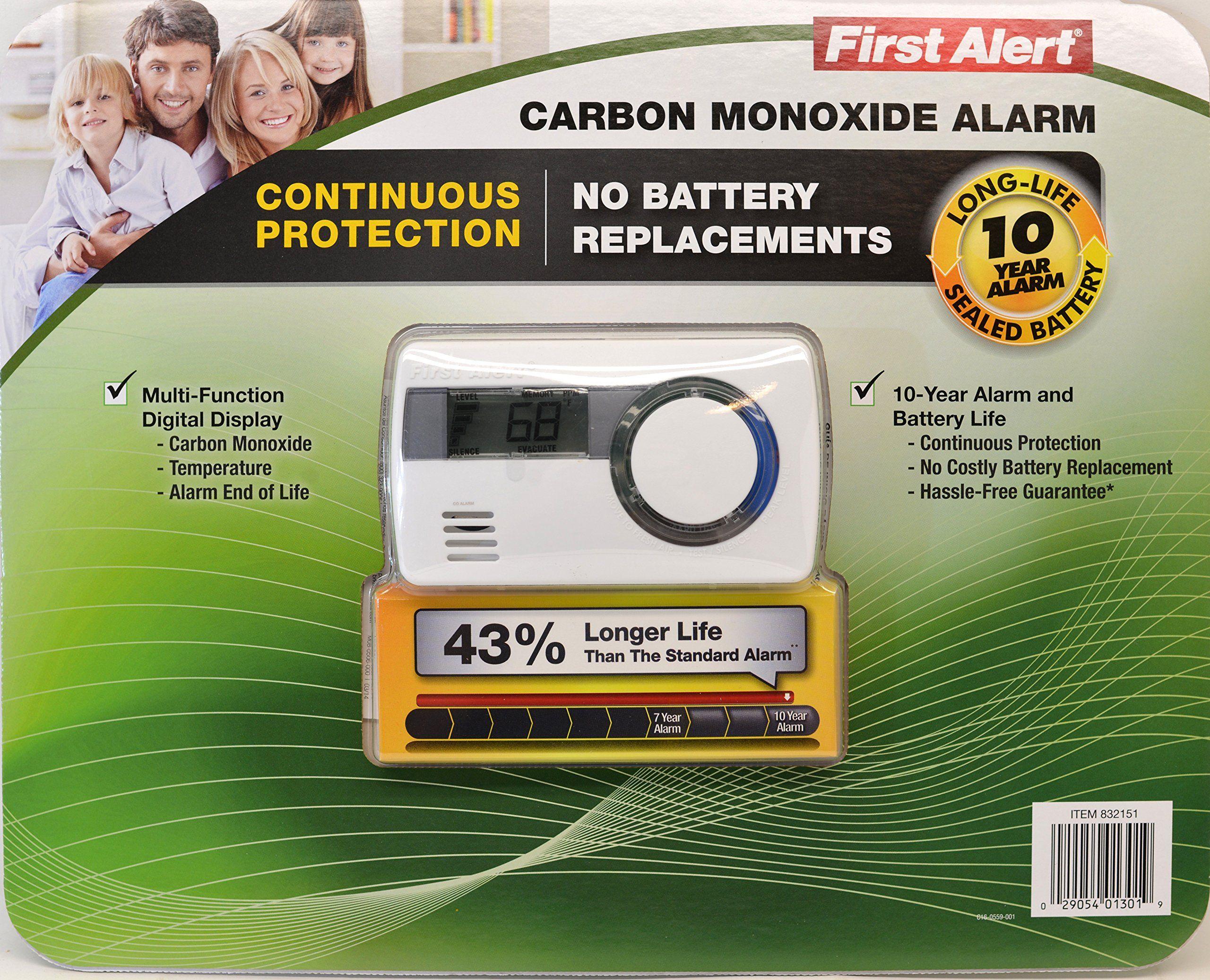 First Alert Carbon Monoxide Alar Long life 10 Year Alarm