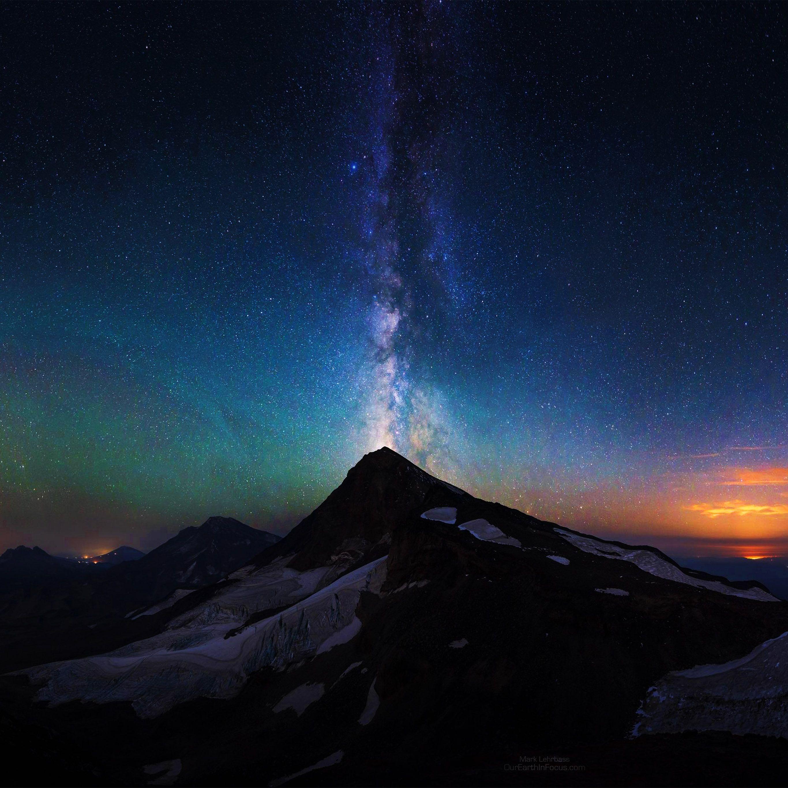 Mountain Aurora Sky Night Star Milky Way Ipad Pro Wallpapers Milky Way Wallpaper Aurora Sky Milky Way Wallpaper Iphone