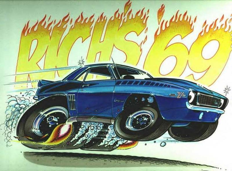 f641e783 George Trosley Cartoons   George Trosley 1969 Camaro Z28 artwork ...