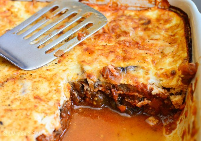 Eats Low Syn Moussaka - gluten free, Slimming World and Weight Watchers friendly