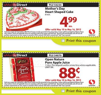 Safeway Coupons Save on Your Groceries! Print coupons
