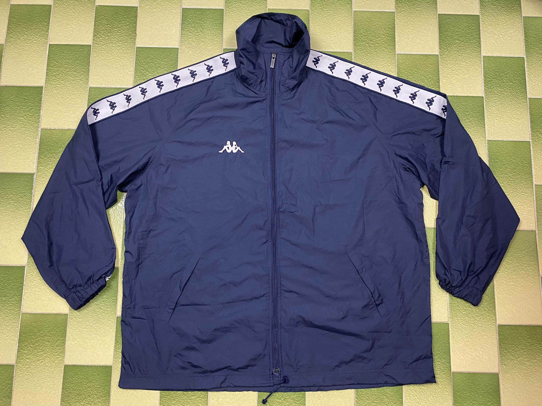 Kappa Tape Logo Full Zip Windbreaker Jacket Size L Elastic On Etsy Windbreaker Jacket Windbreaker Jackets [ 2250 x 3000 Pixel ]