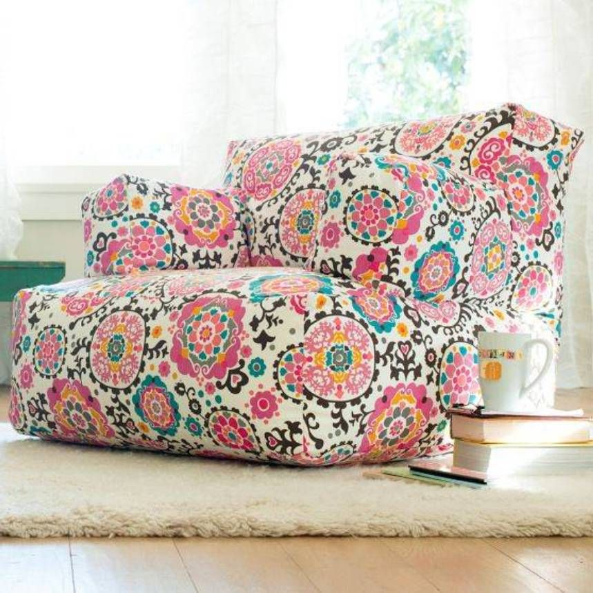 Furniture , Cool And Comfy Teen Bedroom Chairs : Floral Lounge Teen Bedroomu2026