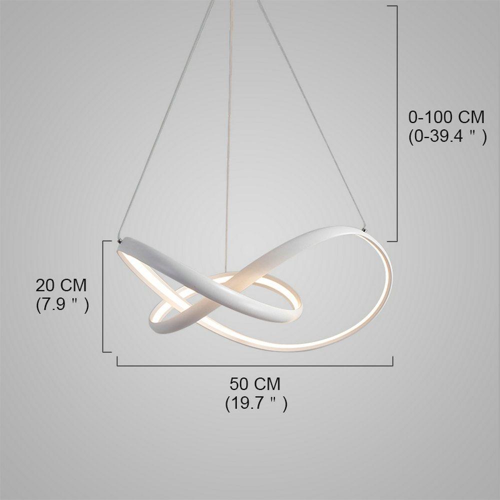 Led Pendelleuchte Modern Kreativ Linien Design im Wohnzimmer in