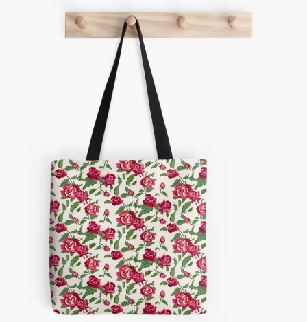 Red Flowers Design Tote Bag By Jasonleone