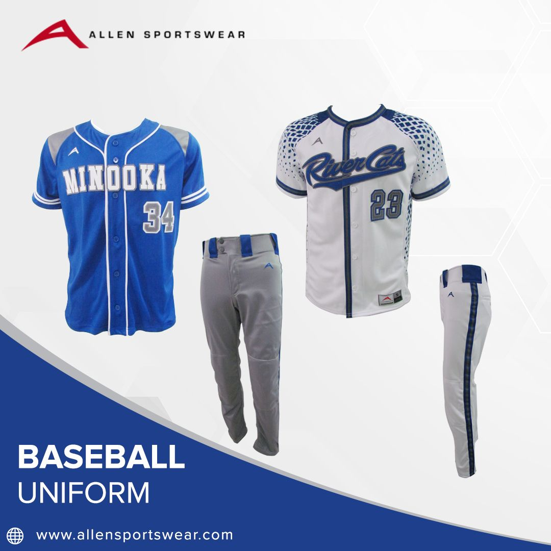 Baseball uniforms in tackle twill and sublimation not