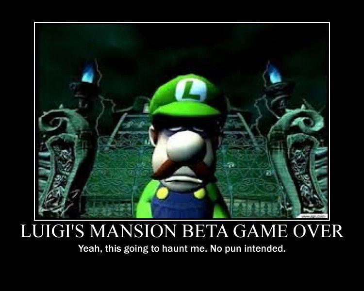 Luigis Mansion Beta Game Over By Yokaisamurai On Deviantart Funny