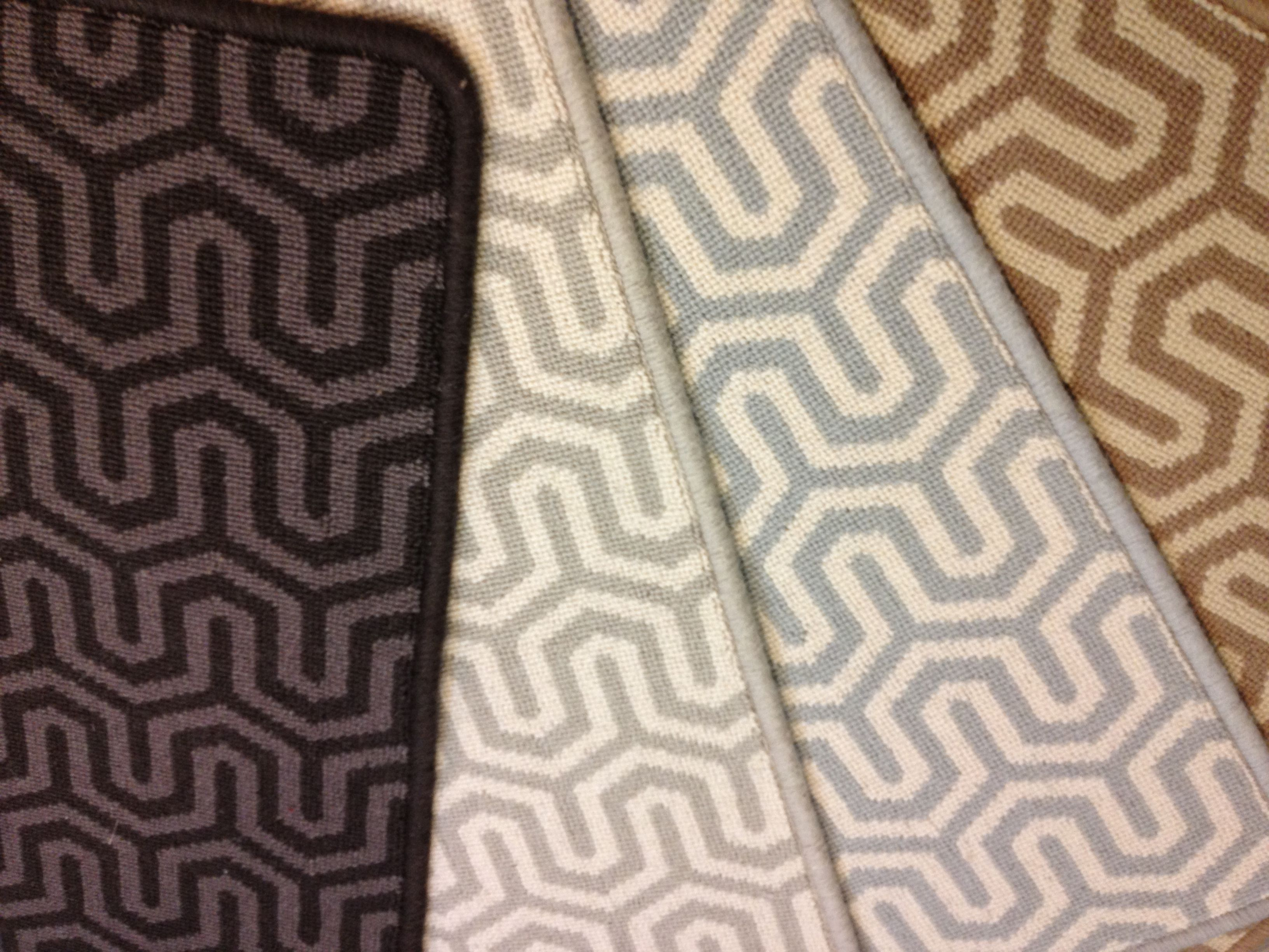 Kingston is a geometric patterned carpet that can be used for Patterned wall to wall carpeting