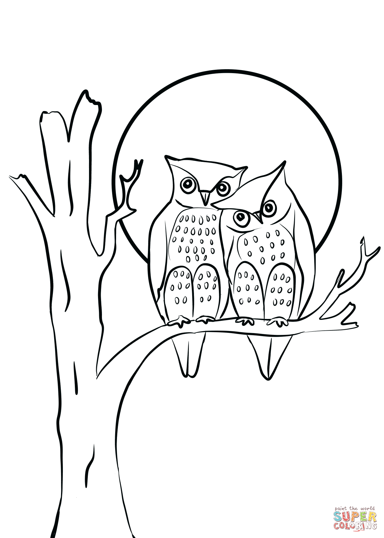 amour love drawing Bird coloring pages, Owl coloring
