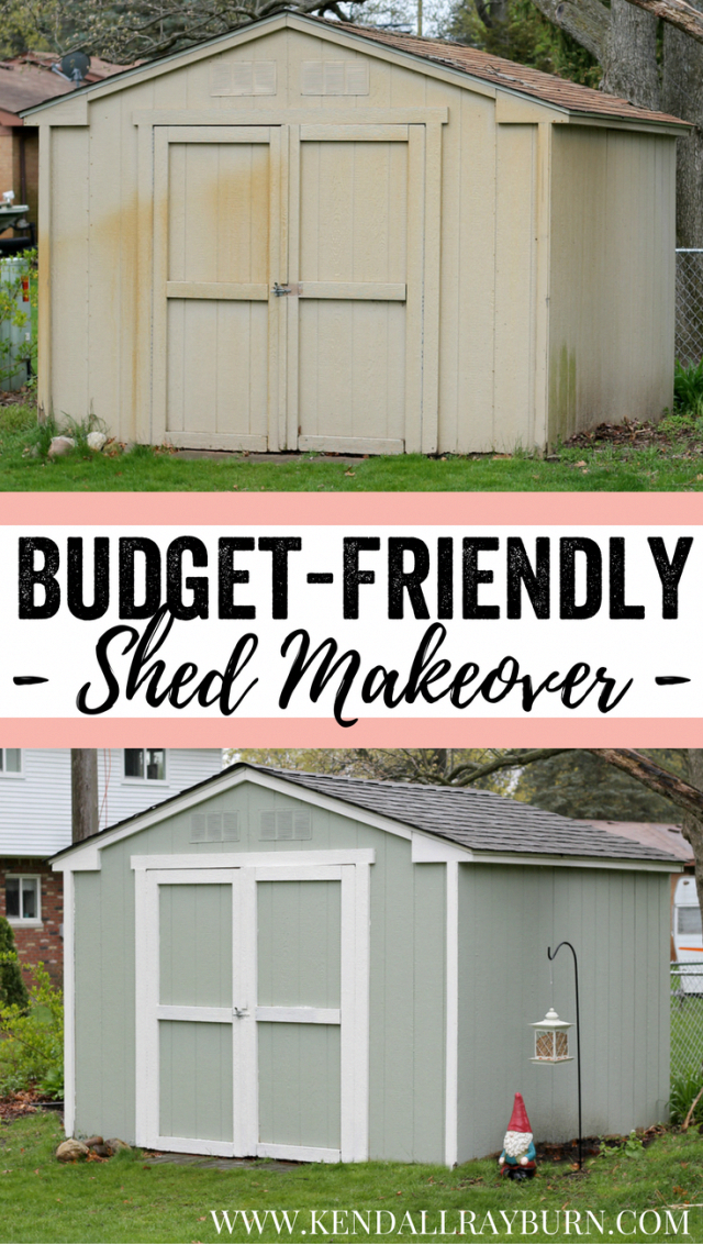 Budget Friendly Shed Makeover See How