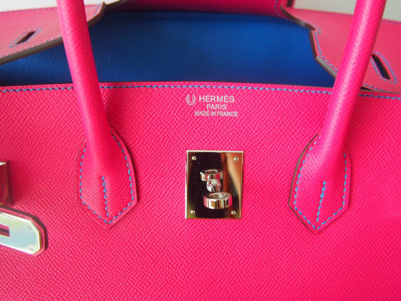 5aeece248f9 ... coupon for hermes special order horse shoe stamp birkin 35 rose tyrien  blue hydra q stamp