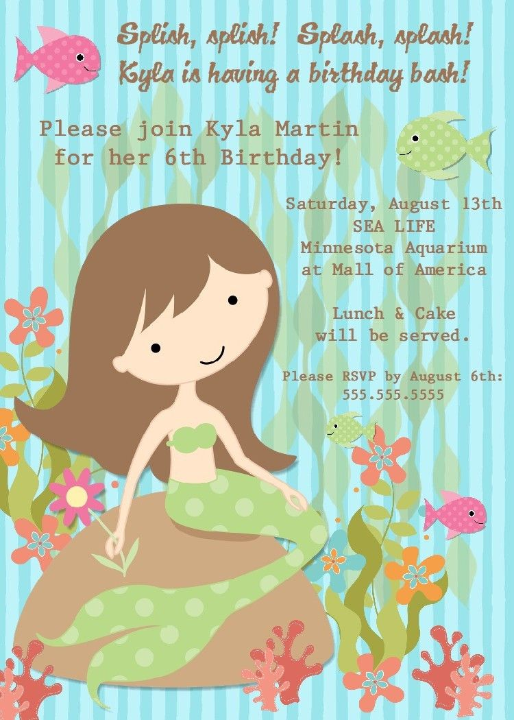 Mermaid birthday party invitation printable digital file these sweet mermaid birthday party invitations are perfect for the little girl who loves all things under the sea check out my sho monicamarmolfo Images