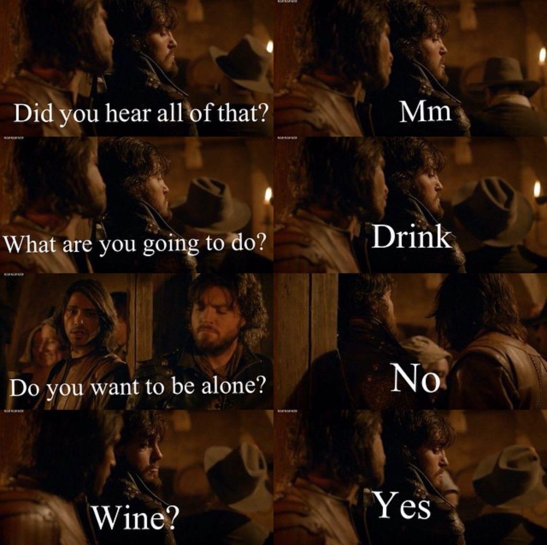 The man of very few words. Athos.