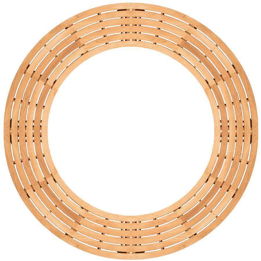 Circa Curved Backless 4 Piece Circular Bench Set Top View