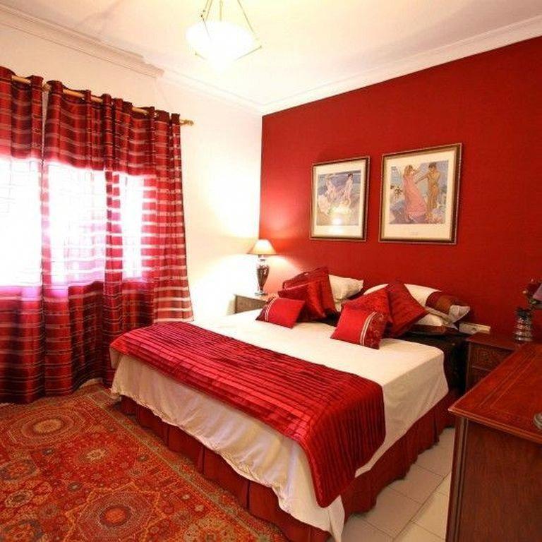 20 Romantic Red Bedroom Designs Ideas For Couples Habitacionesmatrimoniales Red Bedroom Design Red Bedroom Decor Bedroom Red
