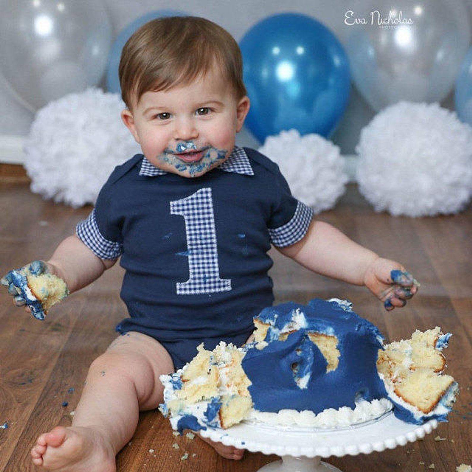 Astounding First Birthday Outfit Boy Cake Smash Outfit Boys Cake Smash Personalised Birthday Cards Petedlily Jamesorg